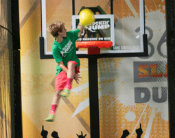 Fun indoor kids basketball