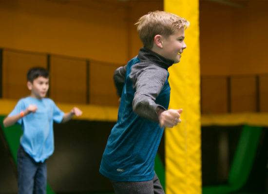 Trampoline Park Kids Play Safe